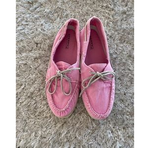 Pink Sperry Top Sider Shoes Size 10